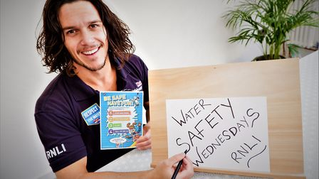 The RNLI are running Water Safety Wednesday Facebook Live videos for kids Credit: Supplied
