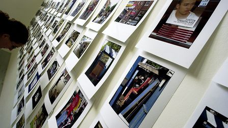 Stuart Goodman photos on display at Norwich School of Art and Design where he studied for an MA. Pic