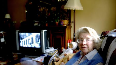 Gloria, a resident at Earlham House in Norwich. One of the photographs taken by Stuart Goodman as pa