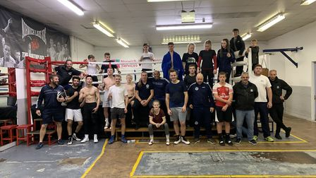 Boxers and coaches at Norwich Lads Club Picture: Bruce Hughes