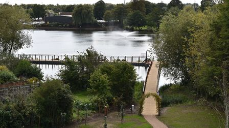 The boardwalk at Diss Mere has been closed alongside the town's cemetery and public gardens. Picture