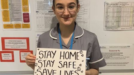 Staff at the Norfolk and Norwich University Hospital have been reiterating the message to stay home,