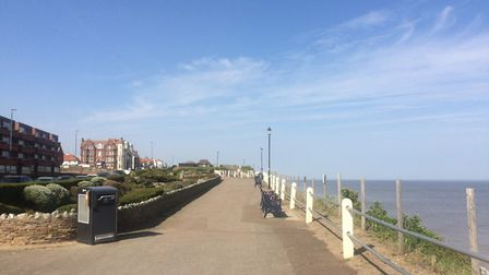 Cromer seafront in lockdown on Easter Saturday morning. Pictures: David Bale