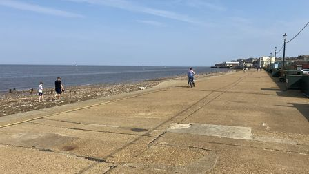 Hunstanton beach was deserted during lock down on Easter bank holiday weekend. Photo: Emily Thomson