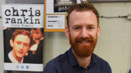 Chris Rankin, who played Percy Weasley in the Harry Potter films, at Nor-Con, the TV, film and comic