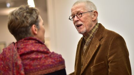 Sir John Hurt at the opening of the NUA East Gallery. Picture: ANTONY KELLY