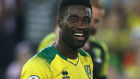 Norwich City midfielder Alex Tettey had company as he trained in a public park Picture: Paul Chester