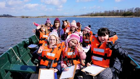 Youngsters enjoy exploring nature on the water at How Hill, in Ludham. PHOTO: How Hill Trust