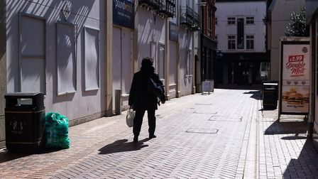 Empty streets ahead of lockdown. Picture:SARAH LUCY BROWN