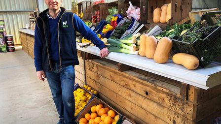 Sam Steggles has expanded his farm shop at Fielding Cottage in Honingham after a huge surge in food