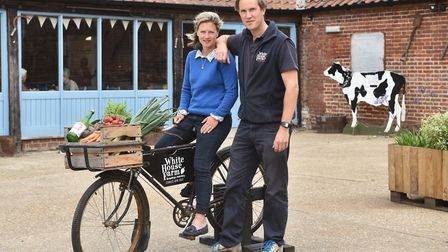 White House Farm owners Charlotte and Oliver Gurney, who have launched an online order service to ke