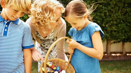 An Easter egg hunt at home is a great way to keep the family entertained. Picture: Getty Images/Josh