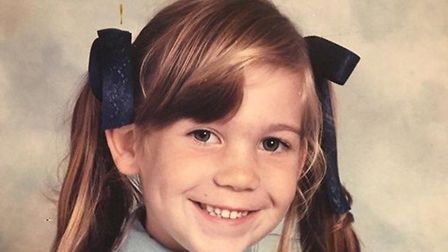 Charlotte Barber was diagnosed with having a brain tumour when she was just eight years old. Picture