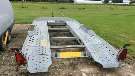 An Ifor Williams car trailer was stolen from a residence on Tuxhill Road in Terrington St Clement. P