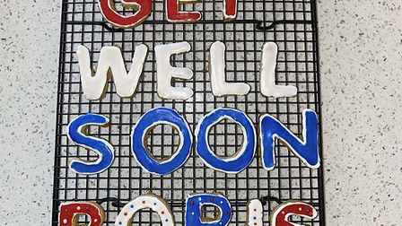 Brandon Lewis, MP for Great Yarmouth, posted a get well soon message on Instagram for prime minister