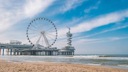 The pier at Scheveningen in Netherlands has a ferris wheel and a bungee jump at the end Picture: G
