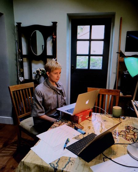 Becky Jago working from home during the current isolation
