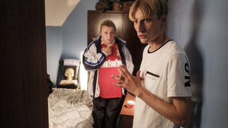 Kerry (Daisy May Cooper), and Kurtan Mucklowe (Charlie Cooper) in BBC3 mockumentary This Country