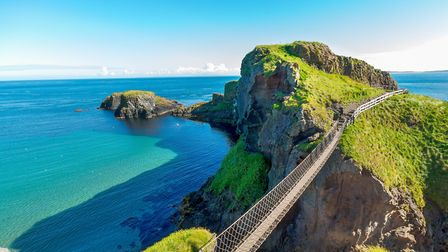 Lovely sea views from the Carrick-a-Rede rope bridge in Northern Ireland Picture: Getty Images/iSt