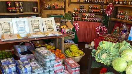 Lots of fresh produce available at the Dunsburgh Farm Shop in Geldeston Mandy's Pickles
