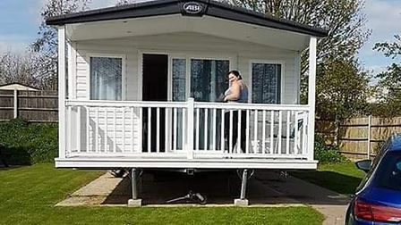 Lisa-Marie Wright and her family at one of their many holidays at Hopton-on-Sea. Photo: Kayla Barret