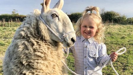 Three-year-old Barley Brook Sellar, from Wood Norton near Fakenham, and her sheep Ethel have become