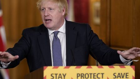 """Prime Minister Boris Johnson claims we are """"past the peak"""" of coronavirus infections in the UK. Phot"""