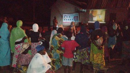The Wulugu Project is helping to educate people in Ghana about the coronavirus. Picture: The Wulugu