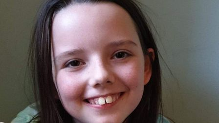 Chloe Watson, 10, is a young carer and is raising money for other young carers. Picture: Chrissie Wa
