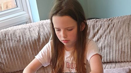 Chloe Watson is taking part in a 26 hour lego challenge to fundraise. Picture: Chrissie Watson