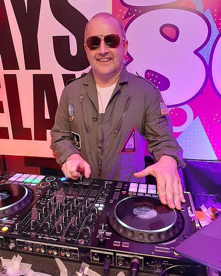 Neil Hardingham, 53, who has been DJing since he was 12, started his online 'disco fever' parties af