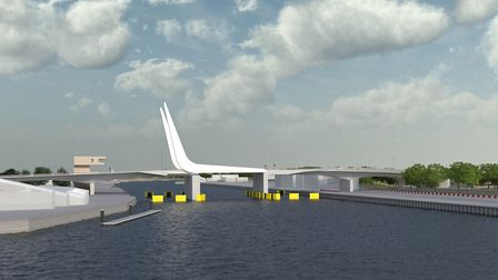 Visualisations of the proposed third crossing in Lowestoft. Photo: Suffolk County Council
