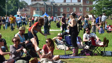 Visitors enjoy the music, sunshine and food at the Red Rooster Festival Picture: Sonya Duncan
