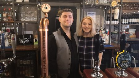 Keiran Bullen and Caitlin Quinn took over the White Hart in Wymondham last year. Photo: Bethany Wale