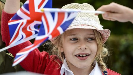 Pupils from Downham Prep School have a street party to mark the 70th anniversary of VE Day. Picture: