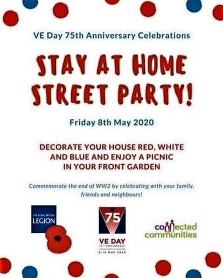 A call has been made for people to host 'Stay at Home' street parties in their own front gardens to