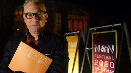 Daniel Brine, artistic director and chief executive, at the launch of the Norfolk and Norwich Festiv