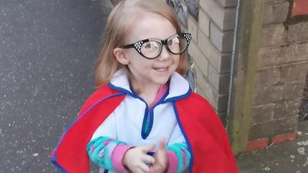Harper Knight, two, has been dressing up as key workers for the clap for carers. Here she is picture