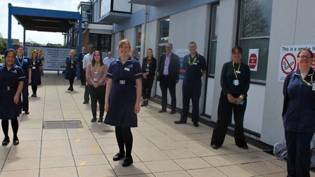 A multi-disciplinary team of consultants, critical care staff and research nurses at the James Paget