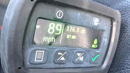 The driver of an Audi was caught by police travelling at 89mph in a 30mph zone in Wymondham. Picture