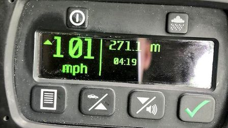 The driver of an Audi R8 was caught by police travelling at 101mph on the A47 at Colney. Picture: NS