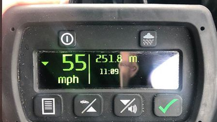 The Norfolk & Suffolk Roads and Armed Policing eastern team stopped a driver, who was clocked at tra