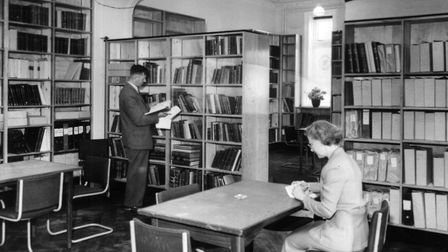 The library at the Fisheries Research Laboratory at Lowestoft in July 1955. The finest fishery libra