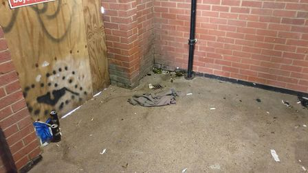 Barnards Yard near Duke Street, Norwich, where residents have complained for years about drug-taking