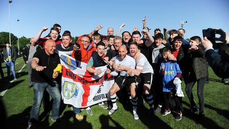 Players and fans celebrate Picture: Ian Burt