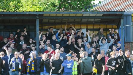 King's Lynn Town fans cheering on their side Picture: Ian Burt