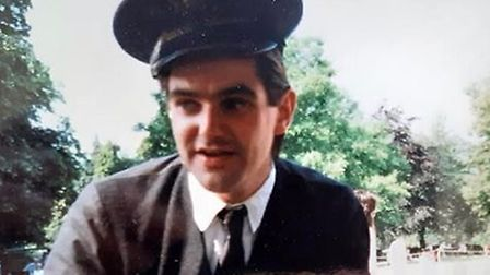 Alastair Baker when he first started at the Bressingham Steam Museum. Picture: Alastair Baker