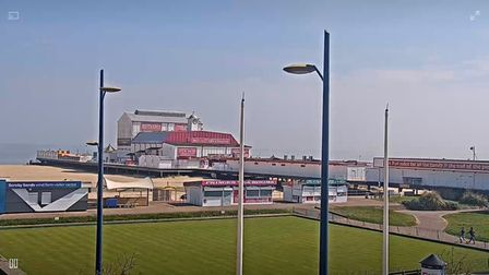 Great Yarmouth from live web cam Easter Sunday 2020. Pictures: Great Yarmouth Borough Council