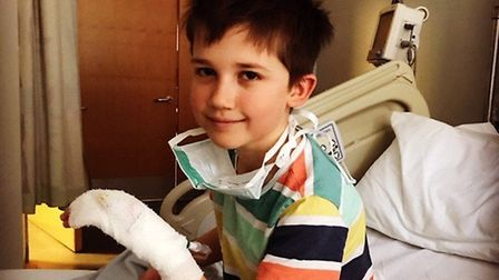 Alex Guin, 9, recovered from coronavirus in time for his 10th birthday. Picture: Sophie Guin