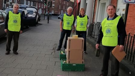 Swaffham Lions joined forces with the White Hart in Swaffham to deliver over 200 Easter eggs around